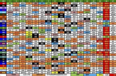 Complete Printable 2017 Nfl Schedule
