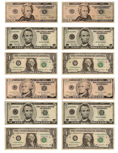 free printable fake money front and back free printable play money free printable fun