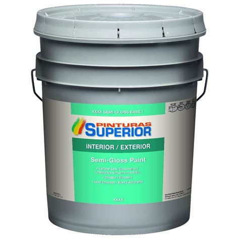 Home Depot 5 Gallon Interior Paint by Superior 5 Gal White Semi Gloss Bone Interior