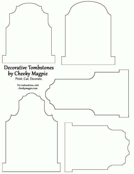 tombstone templates for freebie tombstone template other fall printables