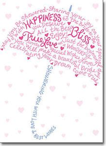type umbrella a press bridal shower card greeting card by avanti press