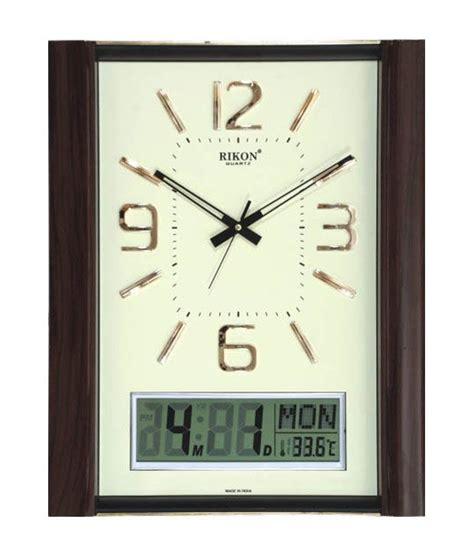 analog and digital wall clock rikon analogue digital wall clock 9551 buy rikon
