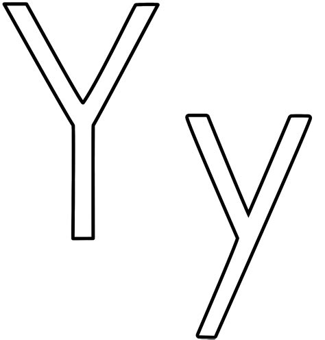 printable coloring letter y coloring pages