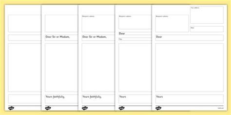 Letter Introduction Ks2 formal letter planning frame ks2 letter of application