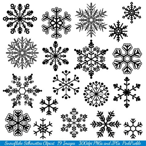 snowflake pattern clipart snowflake clipart clip art snowflake silhouette clip art