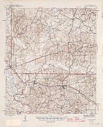 rusk county texas map rusk county texas historical topographic map