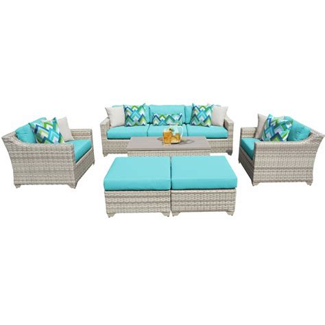 sol  outdoor falmouth  piece rattan sofa seating group