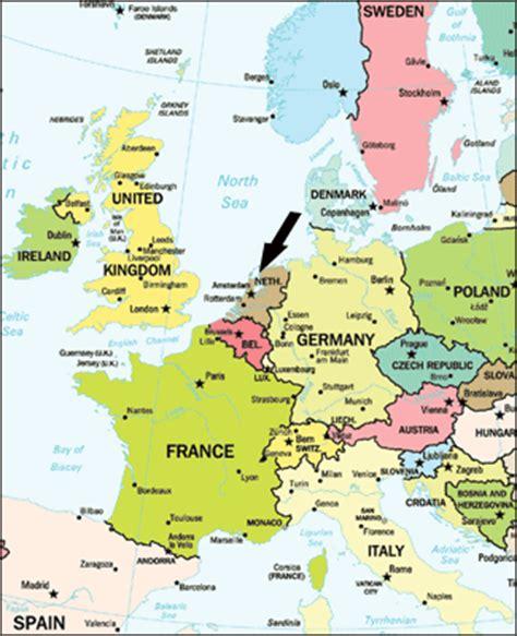 netherlands map europe maps map of europe netherlands