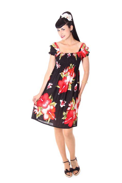 Lucky Orange Style Im So Lucky T Shirt hibiskus hawaii flower sommer strandkleid 50er