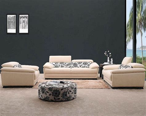 Modern Fabric Sofa Set Modern Beige Fabric Sofa Set 44l0871