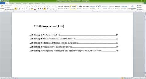 Word Vorlage Masterarbeit Abbildungsverzeichnis In Word Erstellen Tutorial
