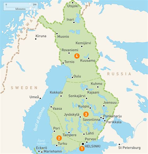 Map of Finland   Finland Regions   Rough Guides   Rough Guides