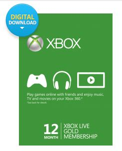 xbox live membership 12 month gold card $36.79  living