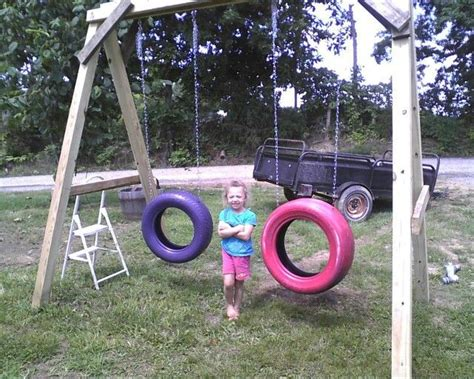 tire swings for swing sets diy redneck swing set tater pinterest diy swing