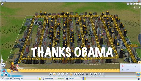 Simcity Meme - a perfect metropolis thanks obama original pic from r
