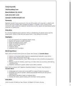 Rn Resume Geriatric Professional Geriatric Templates To Showcase Your Talent Myperfectresume