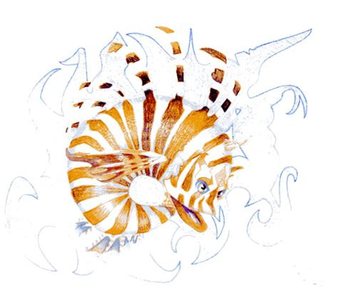 lionfish tattoo designs lionfish design by alzdragon76grafx on deviantart