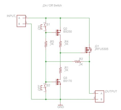 switch schematics power mosfet switch with two on momentary buttons