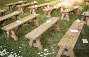 cheap wooden bench east hton outdoor wedding once wed