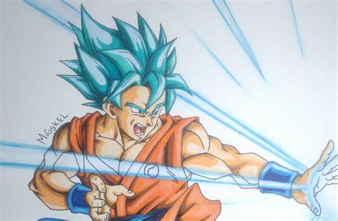 imagenes de goku pelo azul dibujando a goku ssgodss pelo azul how to draw goku
