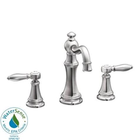 Moen Weymouth Faucet by Moen Weymouth 8 In Widespread 2 Handle High Arc Bathroom