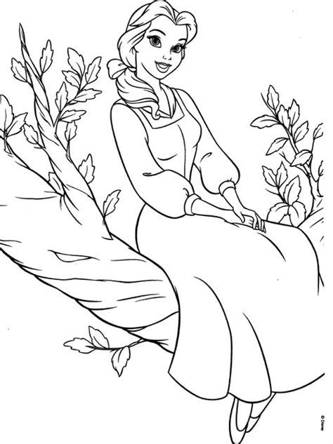 disney princesses belle coloring pages gt gt disney coloring