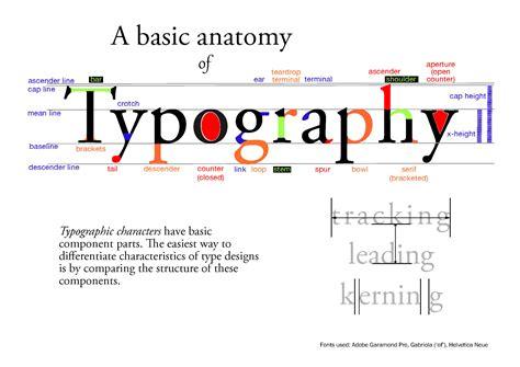 typography anatomy poster anatomy of typography every