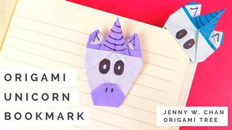 How To Make A Paper Unicorn - origami unicorn bookmark tutorial how to make a paper