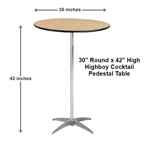 cocktail table rentals 30 quot highboy cocktail table