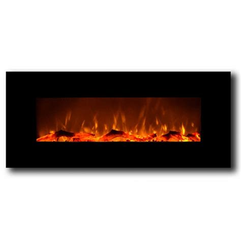 Electric Wall Mounted Fireplace Liberty 50 Inch Electric Wall Mounted Fireplace Black