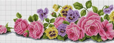 fiori punto a croce hobby lavori femminili ricamo uncinetto maglia