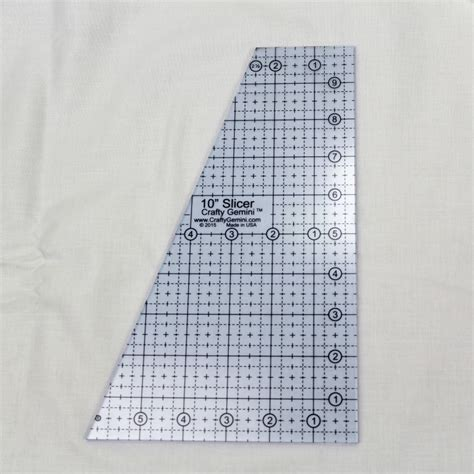 quilting rulers templates 10 quot slicer quilting ruler template crafty gemini