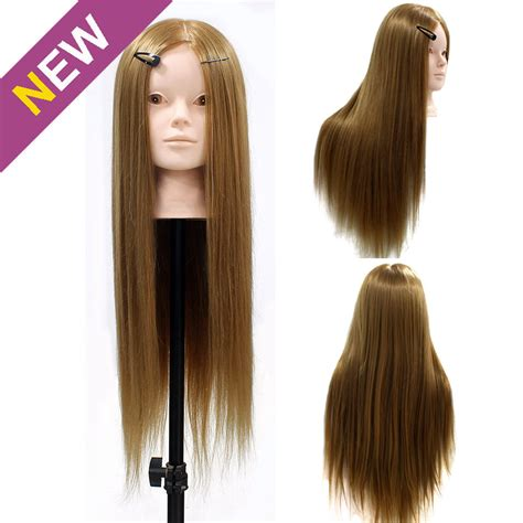 hair and makeup mannequin head 24 quot 50 real animal hair training mannequin head cut