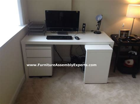 ikea malm desk with galant file cabinet assembled in