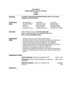 Sle Resume For Administrative Assistant Skills by Admin Assistant Resume Sales Assistant Lewesmr