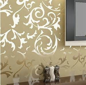 wallpapers home decor details about modern victorian flocking velvet textured damask wallpaper roll silver gold