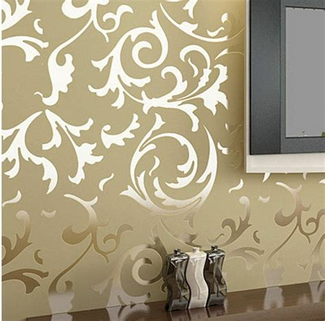 home decoration wallpapers details about modern victorian flocking velvet textured