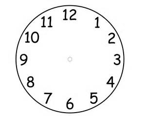 blank clock template the gallery for gt blank clock worksheet printable
