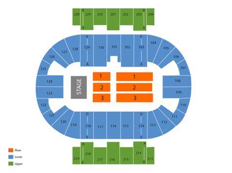 pensacola bay center seating viptix pensacola bay center tickets