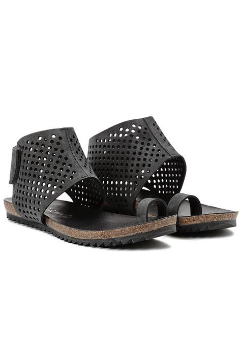 Pedro Shoes 2 pedro garcia venus sandal in black coal lyst