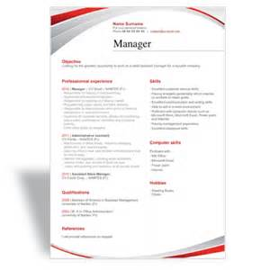 download and write a great word cv résumé template manager