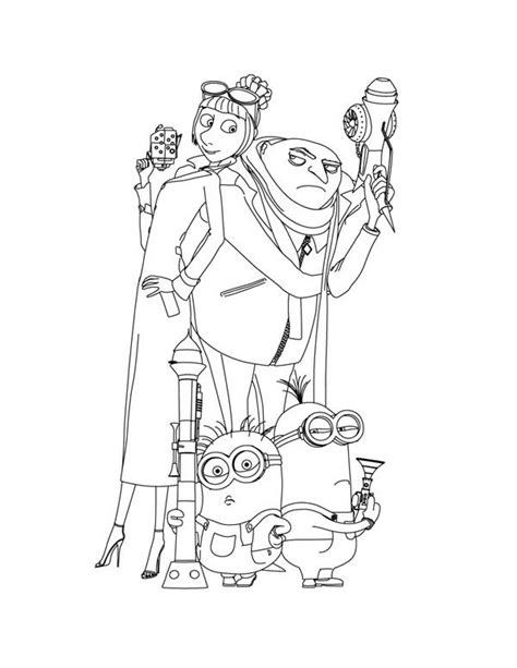 despicable me lucy coloring pages www imgkid com the