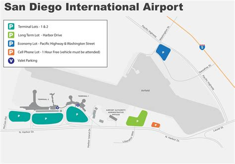 san diego airport map san diego international airport map