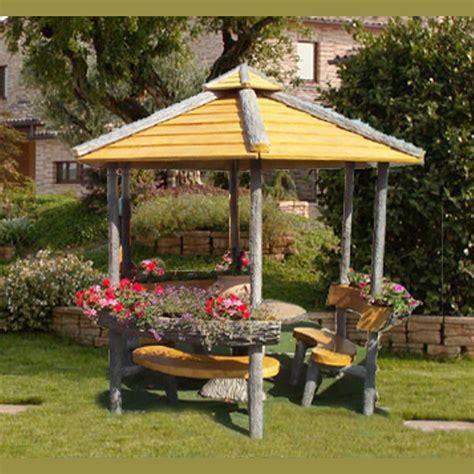 progetto per gazebo in legno gazebo esagonale miccich 232 architetture da giardino