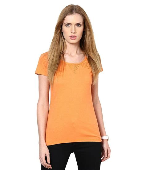 Kaos Oblong Swan Brand Size 38 american swan orange poly cotton tops buy american swan orange poly cotton tops at best