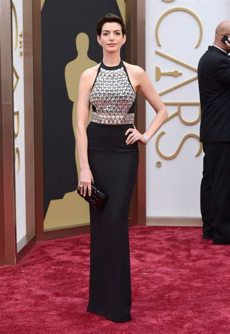 A Closer Look At The Oscars Hathaway by The 2014 Oscars See Every Stunning Carpet Look