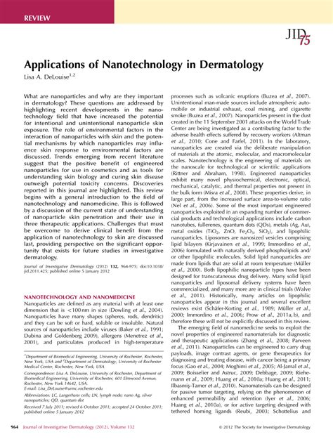 research papers on nanotechnology research paper on nanotechnology pdf 28 images paper
