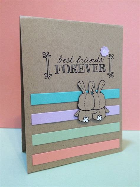 Handmade Birthday Cards For Best Friend - best friends forever greeting card 4 25 quot x 5 50 quot bff