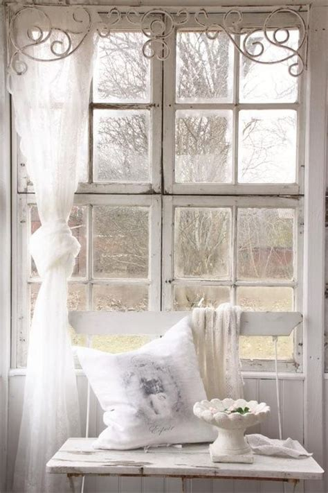 shabby chic window treatment ideas iron headboard to be re purposed as window valance hmmm a vintage cottage farmhouse