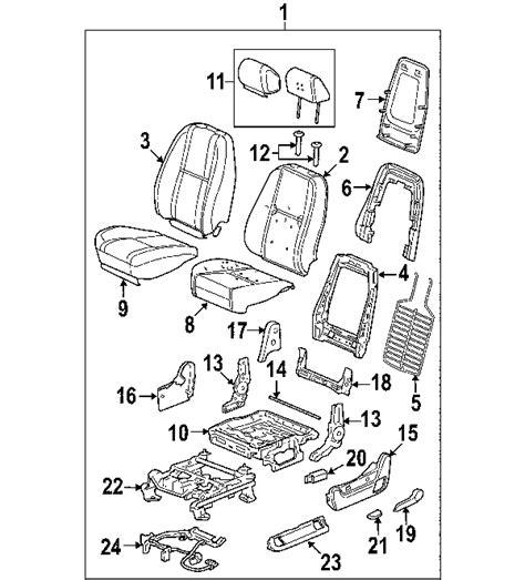 cadillac escalade parts diagram parts 174 cadillac seat track driver seat partnumber